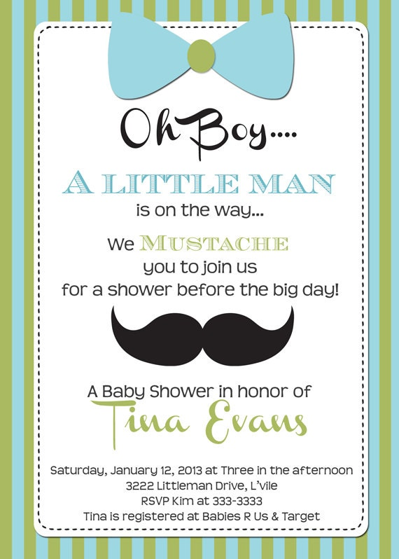 little man baby shower invitation printable by partypopinvites