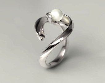 The Moon Silver Ring