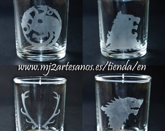 A Game of Thrones shot glasses