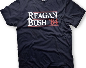 Ronald Reagan & George Bush 1984 Republican National Convention RNC Funny TShirt