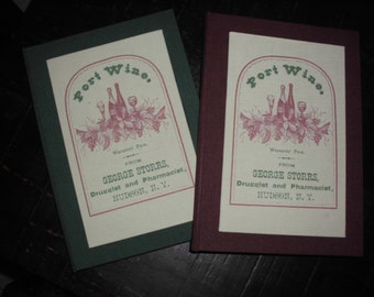 Handmade book  of wines- shabby,vintage, retro, country PORT WINE