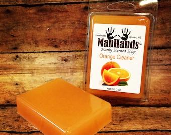 Orange Cleaner Scented Soap 3 oz. Bar