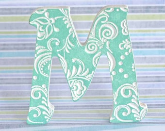 Wooden letters for nursery, art, Letters M, letter art, fancy letter,wooden letters, Wall Decoration, baby letter, wedding letter