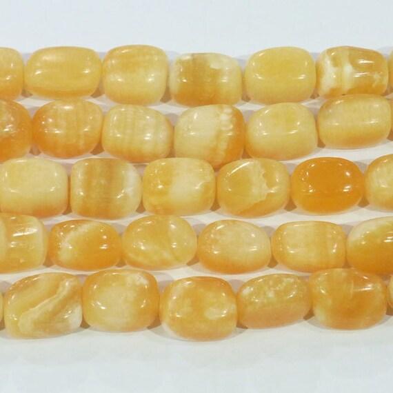 Genuine Jade Beads: Jade Beads Natural Genuine 13x18mm Tumble Yellow 6282