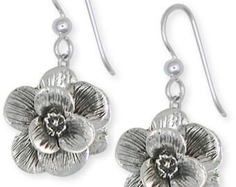 Sterling Silver Dogwood Flower Earring Jewelry  DGW3-E
