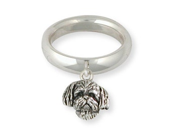 Sterling Silver Lhasa Apso Ring Jewelry  LSZ21-CR