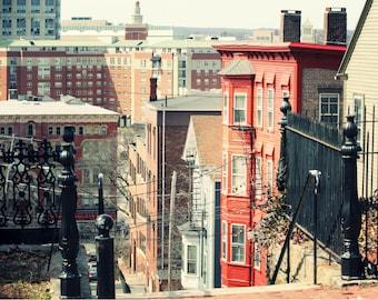 Photo Print - East Side, Rhode Island, City Neighborhood, City Streets, Providence