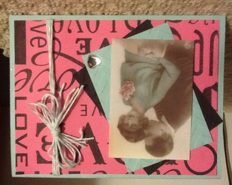 Vintage I Love You or Anniversary Card L01