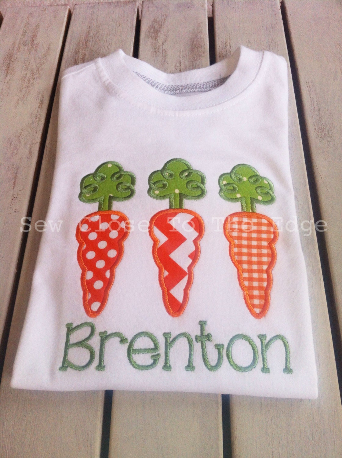 Custom Loopy Top Carrot Trio Easter Shirt Girls Boys