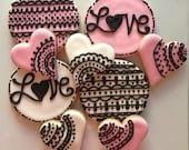 Valentine Love Lace (12cookies) - SugarySweetCookies