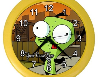 Personalized Gir Invader Zim Room Wall Clock