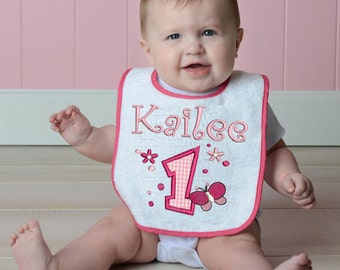 Butterfly Fly Away Bib Personalized for your child (375)