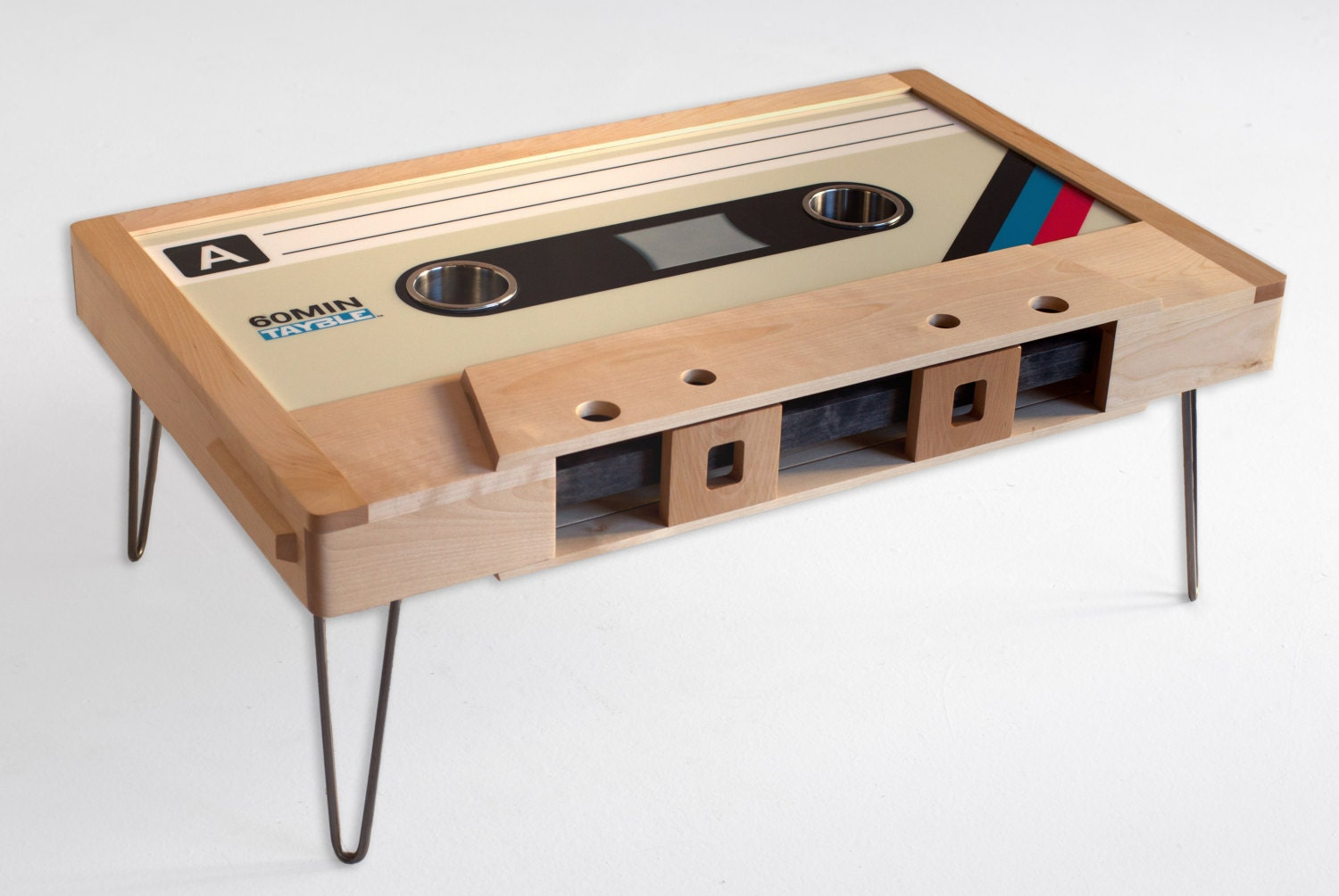 Man Cave Gift Ideas Retro Cassette Tape Coffee Table