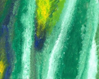 Abstract blue and green painting (2 of 3)