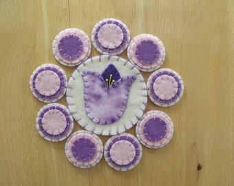 Penny rug Mug Rug Coaster Candle Mat Table mat