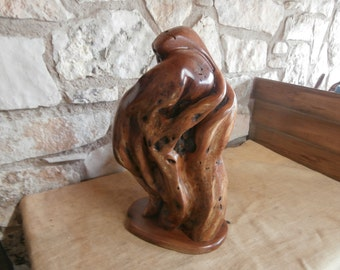 Mother & Child is a mesquite handcrafted sculpture