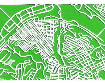 Homestead/Munhall near Pittsburgh -- cut paper map (original)