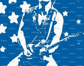 Bruce Springsteen Matted Print