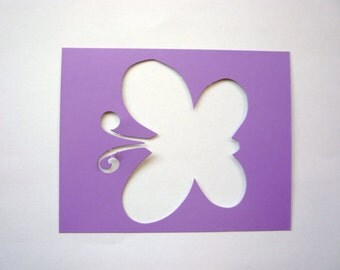 New - One BUTTERFLY Insect  Decorative Wall or Art Stencil  Sturdy & Reusable