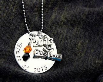 Personalized Handstamped Graduation/Graduate Necklace 2017 now available!