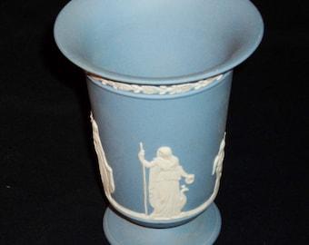Light Blue Wedgwood Vase with Wedgwood Brochure
