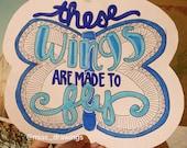Little Mix- Wings lyric art