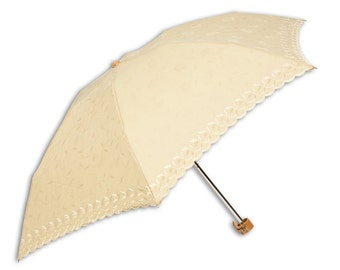 Parasol, Sun Umbrella - AMARELLA Beige Flowers