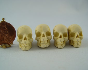 Dollhouse Miniature 1:12th Halloween Skull for Goth Witch, Wizard, Vampire, Harry Potter