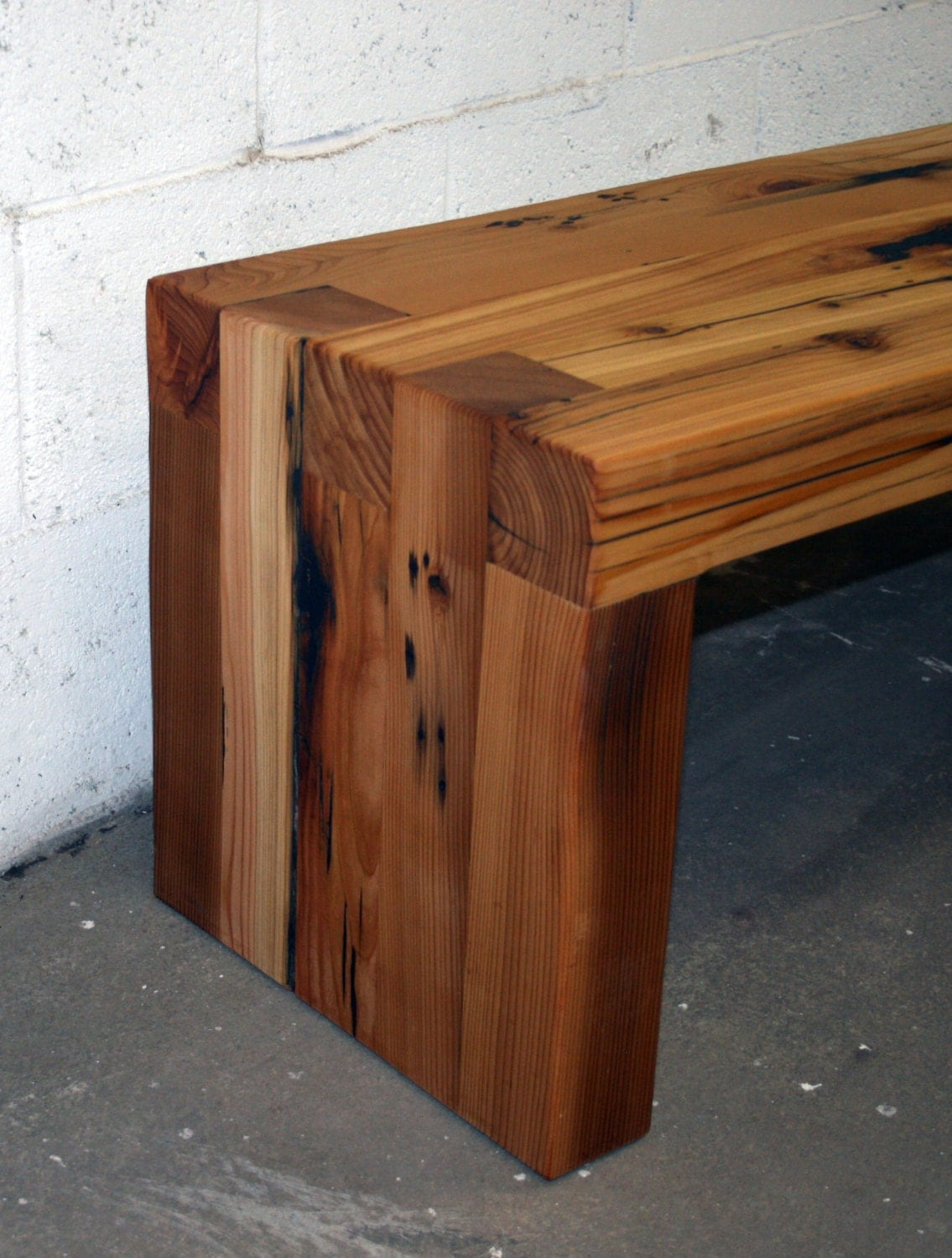 The box joint bench coffee table 48 long made from for Table joints