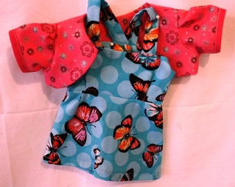 Cute pink bolero and sundress that makes you want to fly away