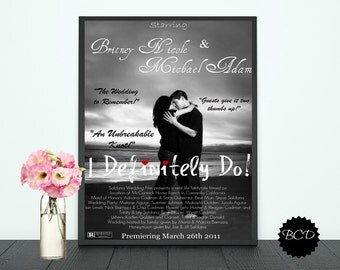 Wedding Movie Poster-Digital Print-Typography-DIY Printable File