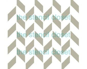 6x6 Herringbone stencil