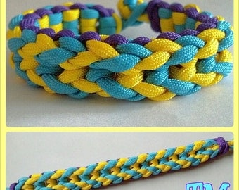 Easter Egg Paracord Bracelet - 550 cord survival statement jewelry pastel colorful reversible macrame knotted friendship nautical rope cuff