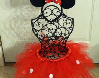 Minnie Mouse tutu headband set