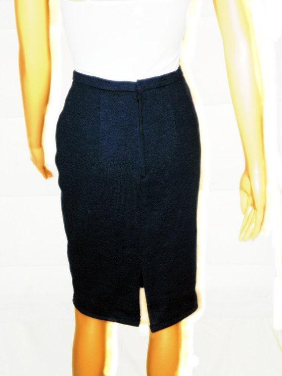 vintage 60s skirt vintage pencil skirt s by