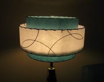 Made to Order Mid Century Vintage Style 3 Tiered Fiberglass Lamp Shade Custom Retro Atomic