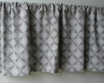 52x16 valance. Ty Pennington fabric. Fully lined valance. Lace print