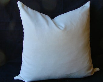 White Pillow Cover, Simple White Pillow Cover, Pillow Cover with invisible zipper, Throw Pillow