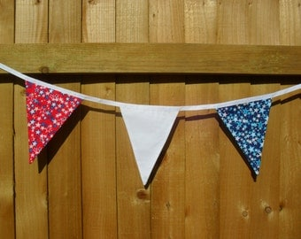 Red White and Blue Bunting.  Star Bunting.