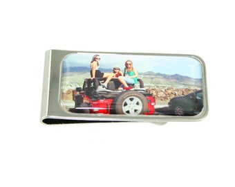 Personalised Printed Money Clip Silver