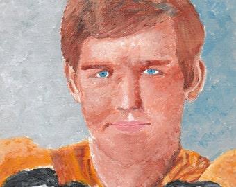 "Gordon ""Bobby"" Orr Painting Reproduction 6x9"