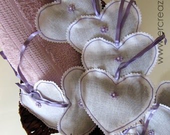Scented sachets with lavender
