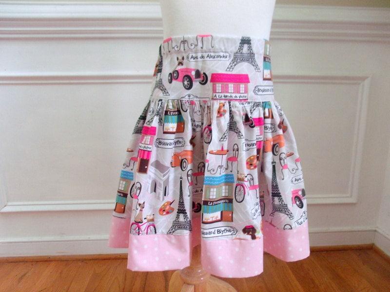 Paris skirt eiffel tower girls by
