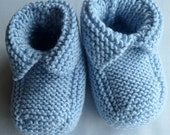 Baby Booties Hand Knitted in Soft and Washable Baby Cashmere Merino Silk Yarn 3 To 6 Month Old