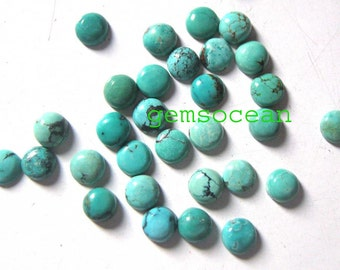 Lot of Stunning 10 Pieces AAA Quality Natural Turquoise Cabochon 7x7 mm round Loose Gemstone Calibrated