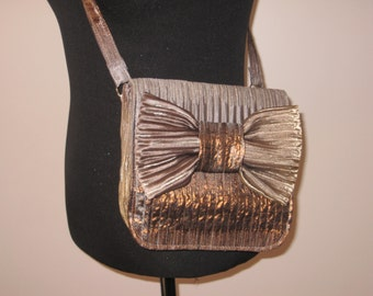 Gold silver brown purse