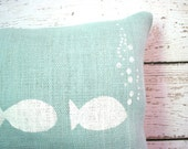 Lake Pillow Beach Blue Burlap