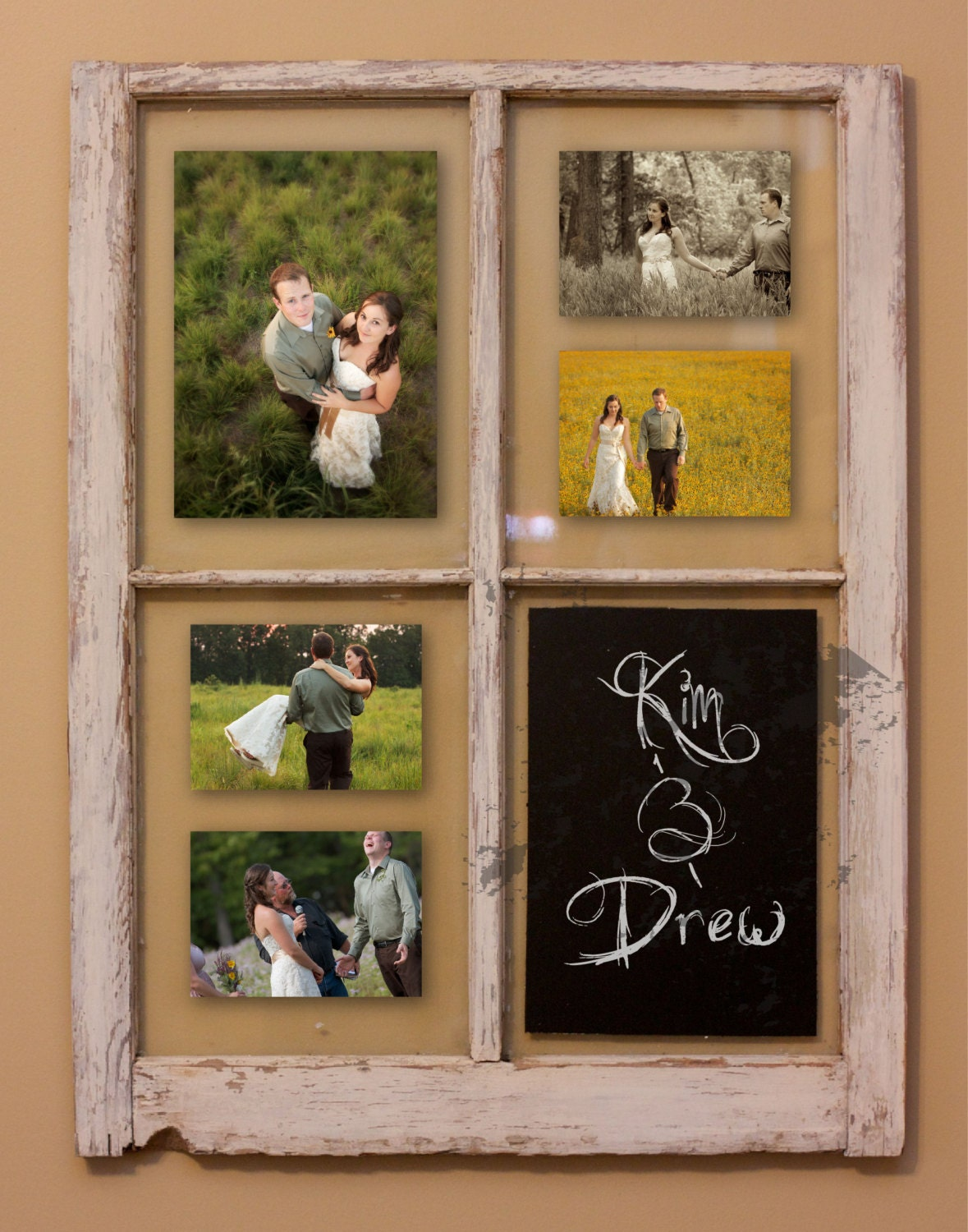 Rustic Window Picture Frame Wedding Gift Wedding Show