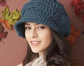 Crochet brimmed cap-size and color options available