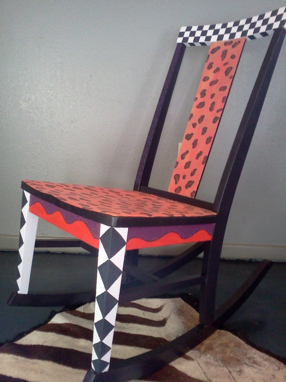 Items Similar To Hand Painted Furniture Rocking Chair